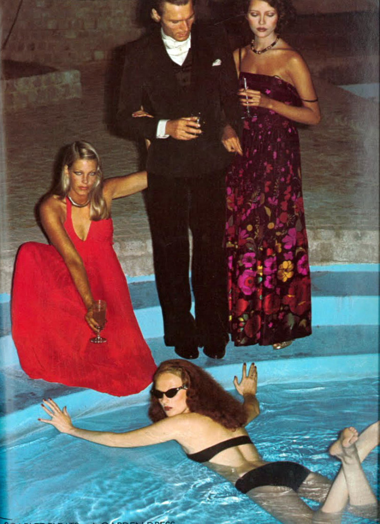 Grace in the pool - Photographer:  Helmut Newton
