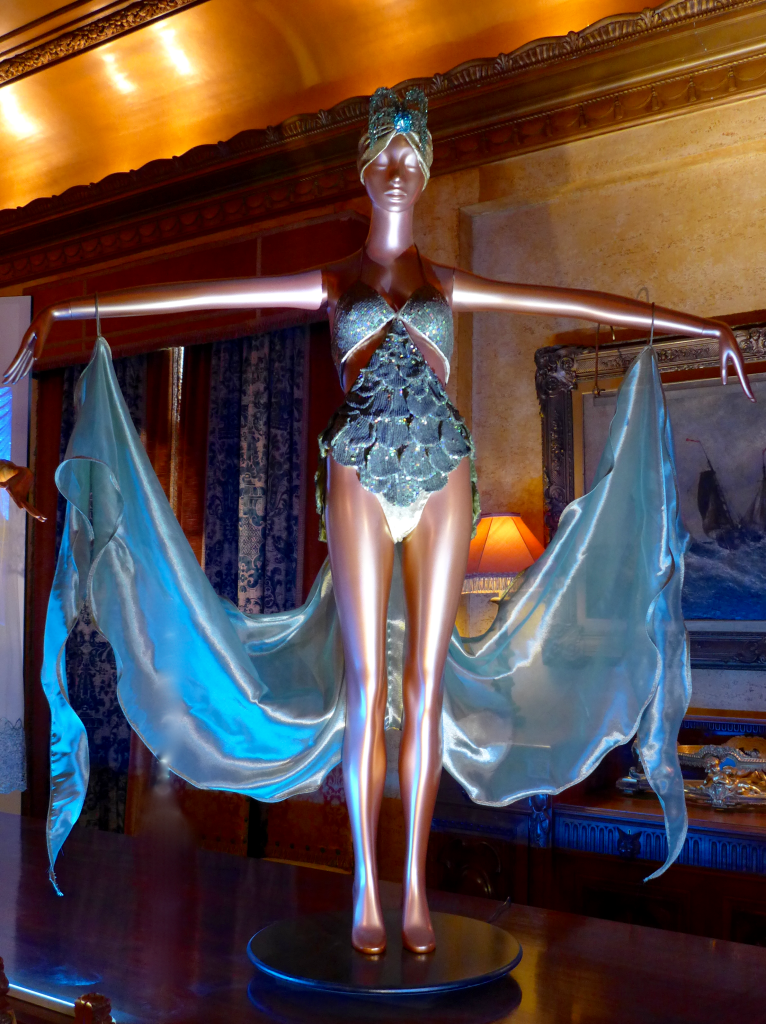 'Death Defying Feats'  Mermaid Costume - Antique luminescent sequins and gold lurex