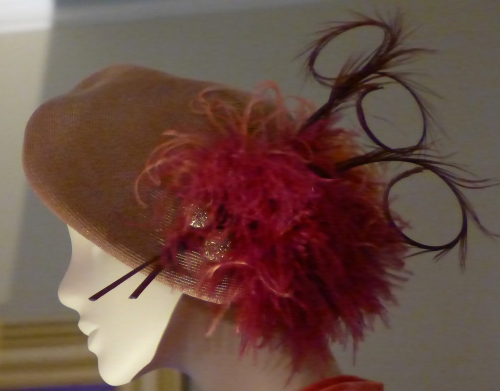 'Murder & the Maiden'  1920s straw beret with feather embellishment  Milliner:  Rose Hudson