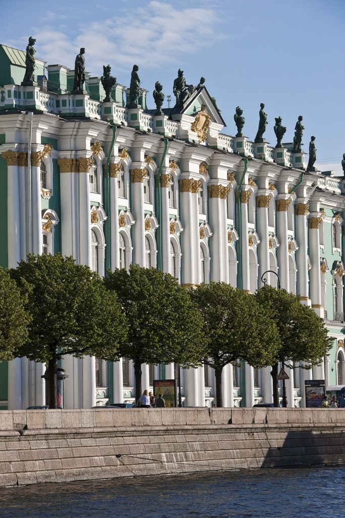 The Hermitage Museum, the Winter Palace in Summer, from across the Neva River, St Petersburg Photo: Andrey Terebenin