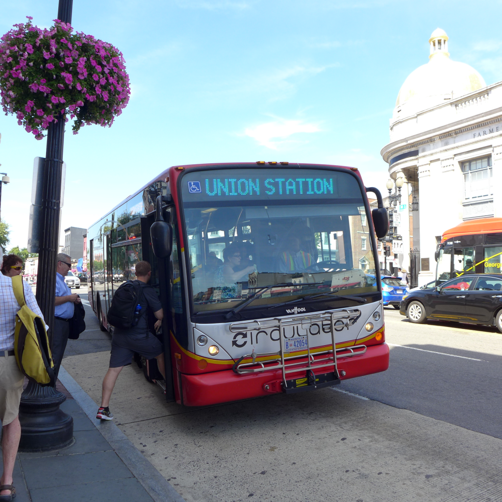 The Circulator Bus - Yellow line serving Georgetown to Union Station