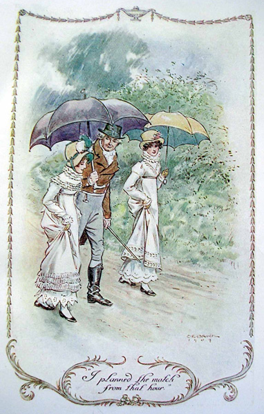 Illustration by C.E. Brock for the 1909 edition of 'Emma' by Jane Austen.