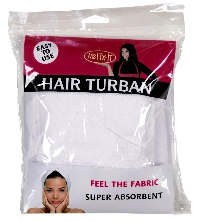 HAIR TURBAN , WHITE (C)