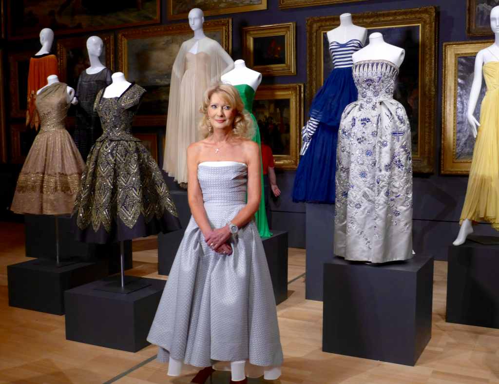 Mrs Krystyna Campbell-Pretty with works from the collection