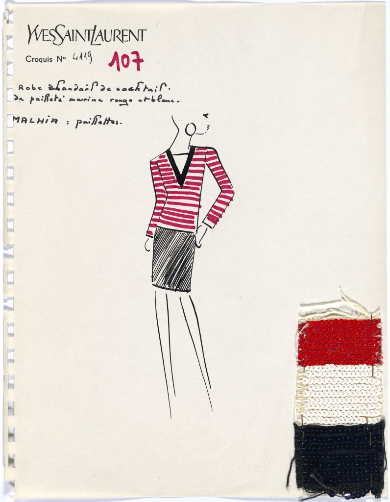 Yves Saint Laurent, Paris Fashion design (c.1970) Campbell-Pretty Fashion Research Collection National Gallery of Victoria, Melbourne Purchased with funds donated by Mrs Krystyna Campbell-Pretty in memory of Mr Harold Campbell- Pretty, 2015