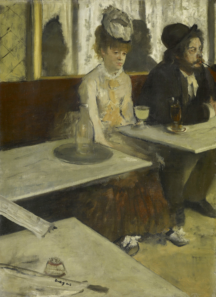 Edgar Degas In a café (The Absinthe drinker) c. 1875–76 oil on canvas 92 x 68.5 cm Musée d'Orsay, Paris (RF 1984) © RMN-Grand Palais (Musée d'Orsay) / Martine Beck-Coppola