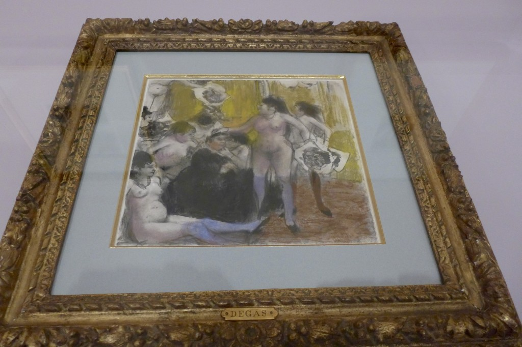 Brothel Scene:  Degas - monotype printing  Photograph:  GRACIE
