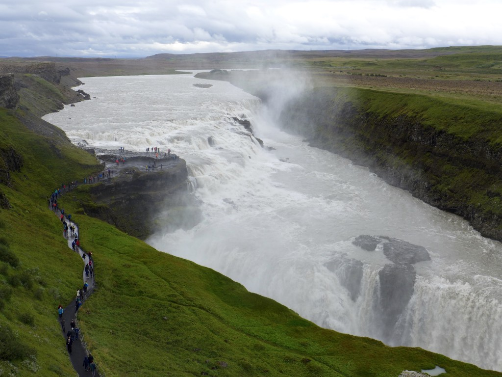 Gulfoss Waterfall located in the canyon of the Hvítá river  Photograph:  GRACIE