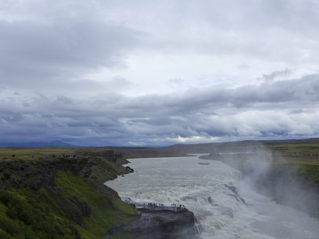 Gullfoss Waterfall in the river Hvita  Photograph:  GRACIE