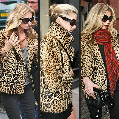 Kate Moss in her favourite jacket showing how its done
