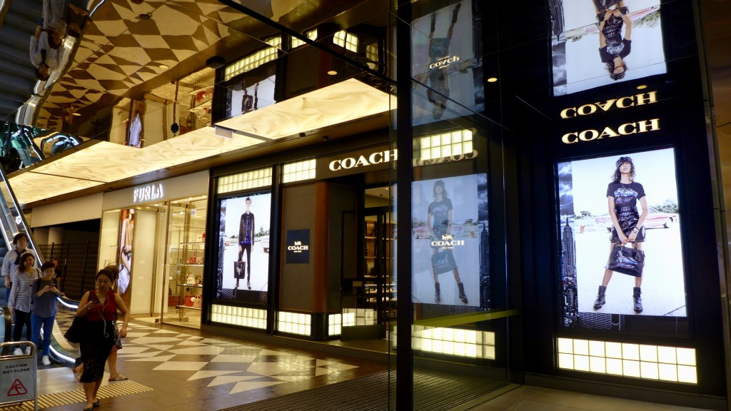 Flagship store of Coach - St Collins Lane, Collins Street entrance   Photograph:  GRACIE