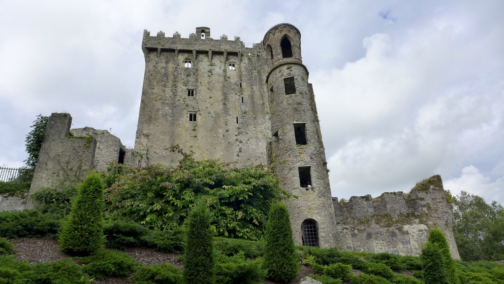 Blarney Castle .. The stone is located on the parapet beneath the small arch  Photograph:  GRACIE