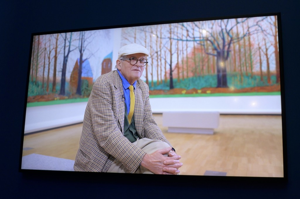 Video clip featuring David Hockney  Photograph:  GRACIE