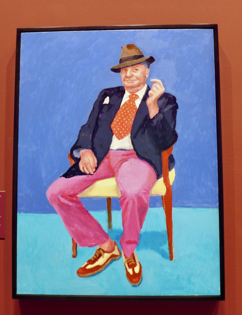 David Hockney portrait of Barry Humphries 26-28 March 2015 Acrylic on canvas  Photograph:  GRACIE