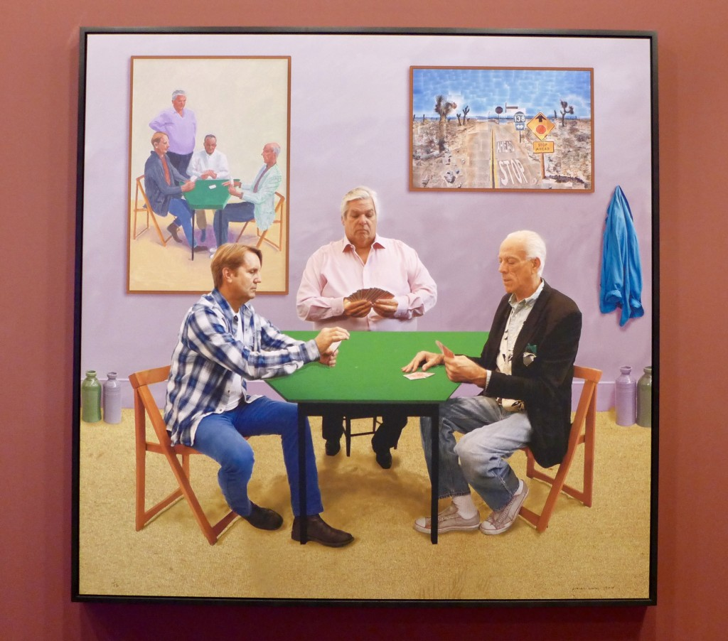 David Hockney English 1937– A bigger card players 2015  Photograph:  GRACIE