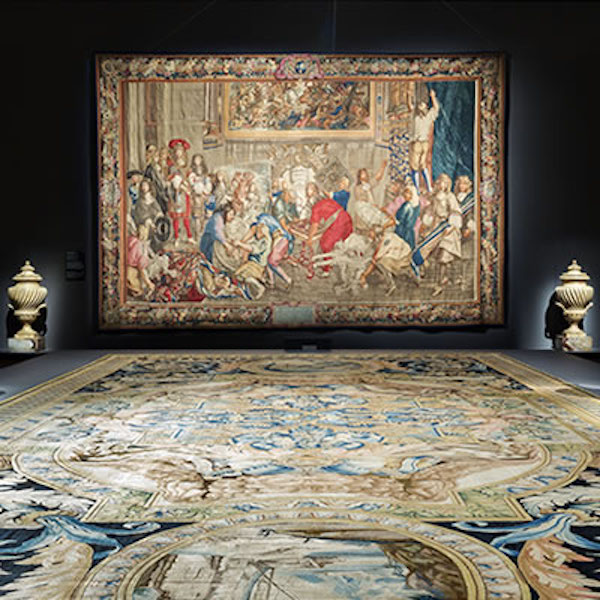 Goblin tapestry and Savonnerie carpet on display  Photograph:  NGA Website