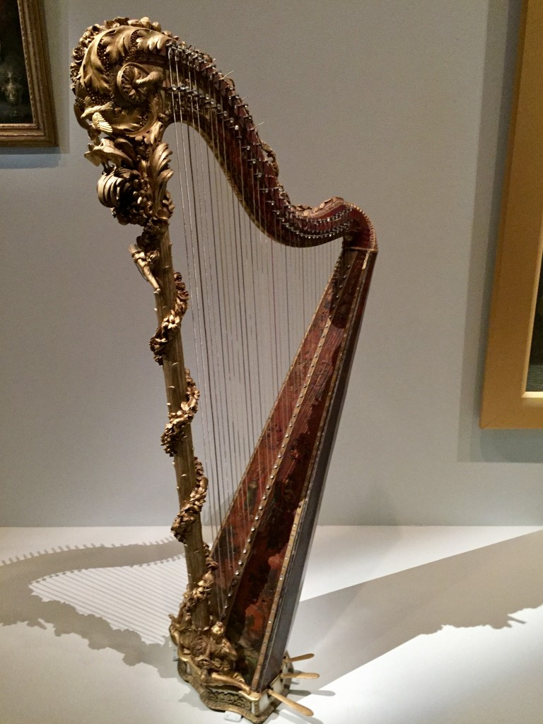 Jean-Henri Naderman harp owned by Marie-Antoinette  Photograph:  GRACIE