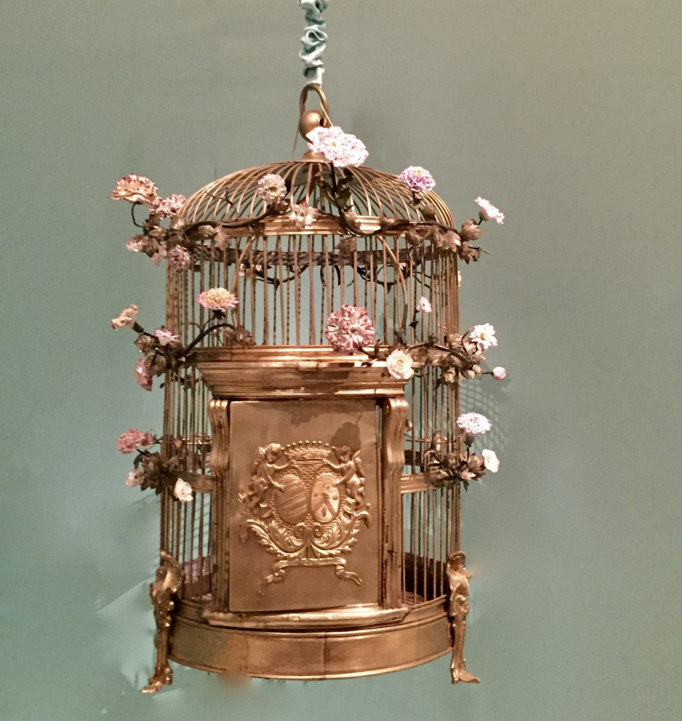 Bird cage embossed with the arms of Madame du Barry  Photograph:  GRACIE