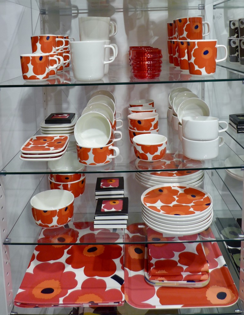 Marimekko Homewares in Unikko design:  Photograph  GRACIE