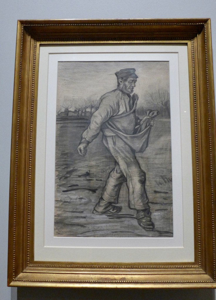 Vincent Van Gogh 'The Sower' 1882  The Hague  Pencil, brush and ink watercolour  Photograph:  GRACIE