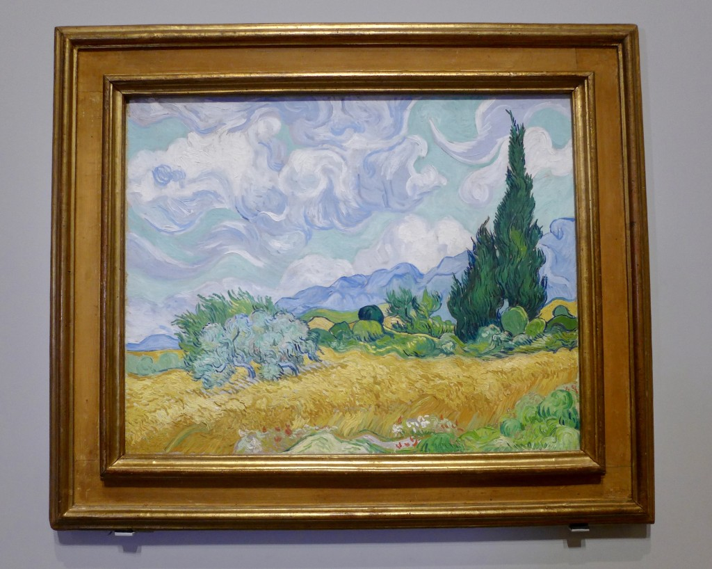 Vincent Van Gogh  'A Wheat  field with Cypresses'  on loan from the national Gallery of London  Photograph:  GRACIE