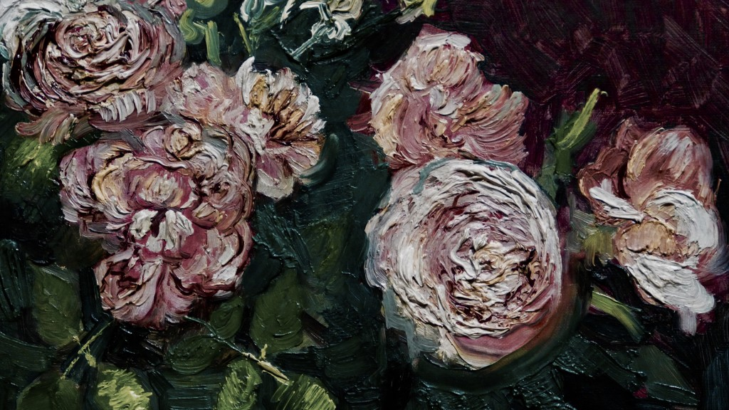 Vincent van Gogh Dutch 1853–90 Roses and peonies June 1886 Paris oil on canvas 59.8 x 72.5 cm Kröller-Müller Museum, Otterlo © Collection Kröller-Müller Museum, Otterlo, the Netherlands