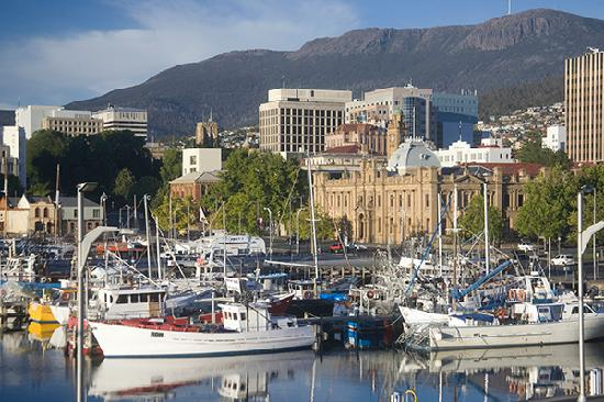 Hobart with backdrop of Mt Wellington as seen from Henry Jones Art Hotel  Photograph:  Tripadvisor