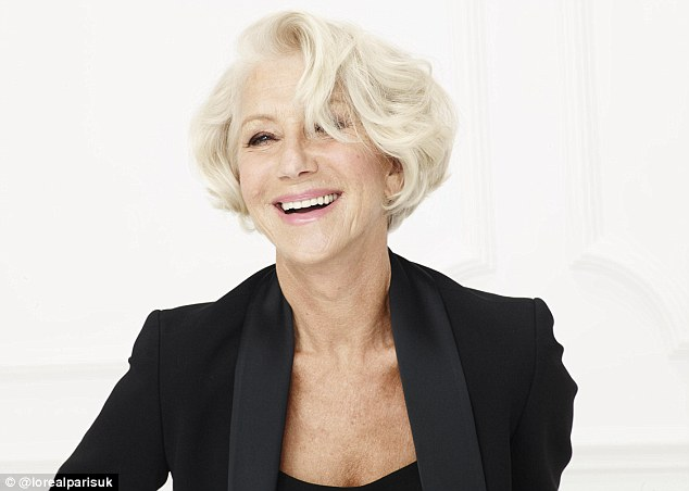 Helen Mirren @ L'Oreal  Photograph:  Daily Mail