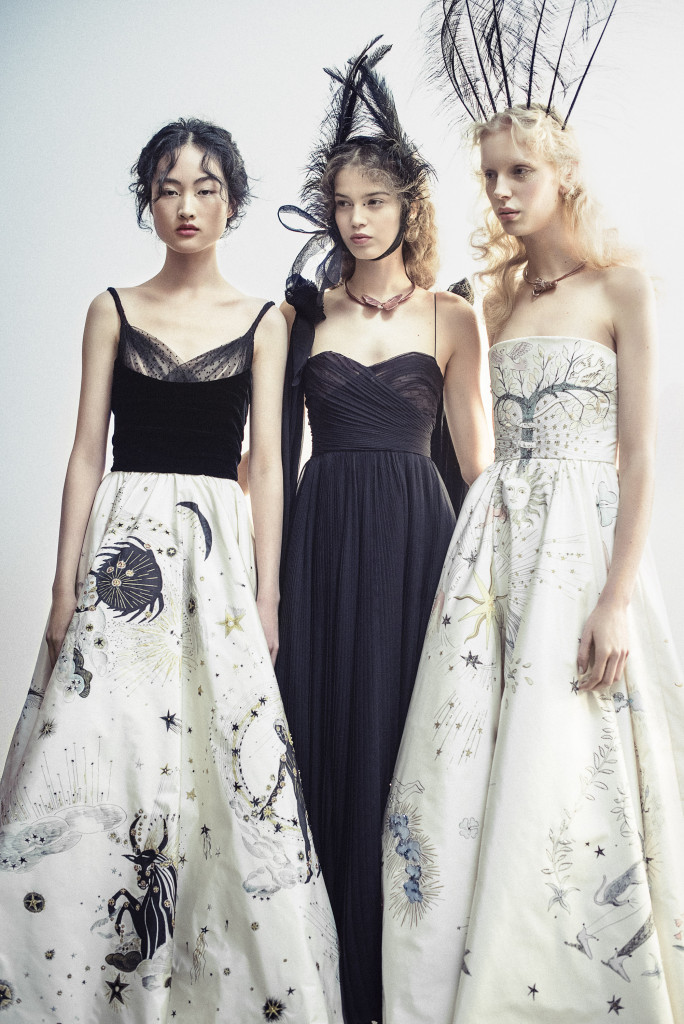 Christian Dior, Paris (fashion house); Maria Grazia Chiuri (designer) Models wearing spring−summer 2017. Dior Heritage collection, Paris. Photo © Morgan O'Donovan.