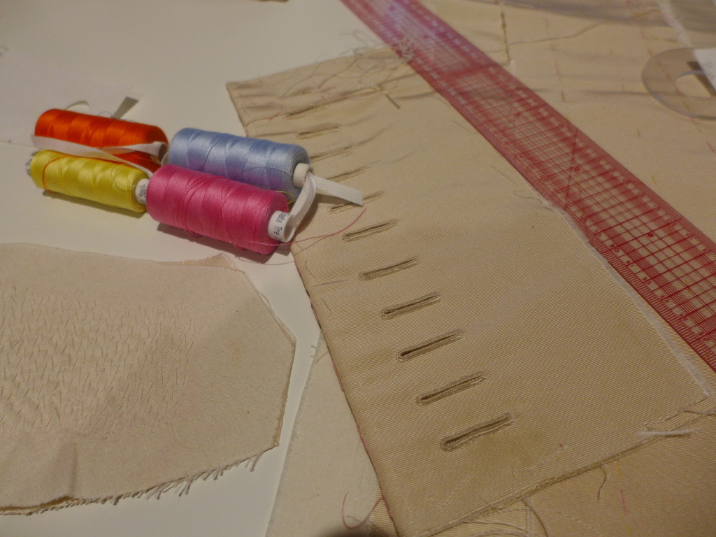 Minute hand stitching of buttonholes  Photograph  GRACIE