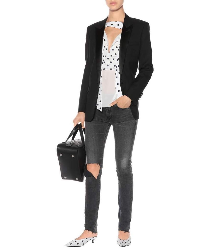 Balenciaga's polka dot silk blouse  SS17