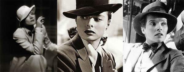 L to R Marlene Dietrich, Ingrid Bergman &  Katherine Hepburn  Source:   The Meadow Tree Journal
