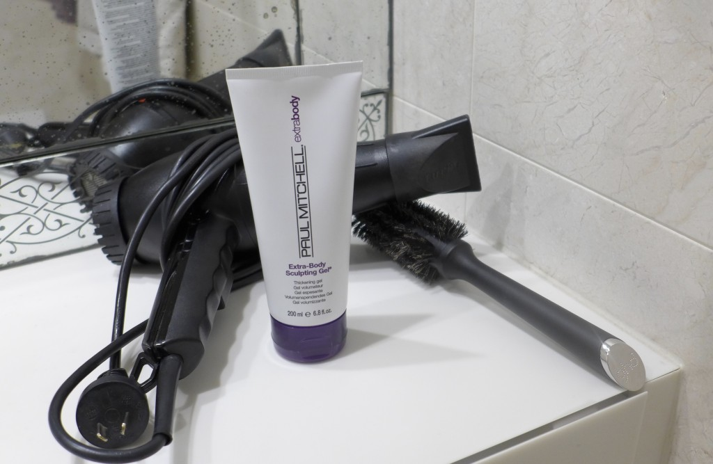 Paul Mitchell Extra-Body Sculpting Gel,  Turbo hair dryer & GHD styling brush  Photograph:  GRACIE