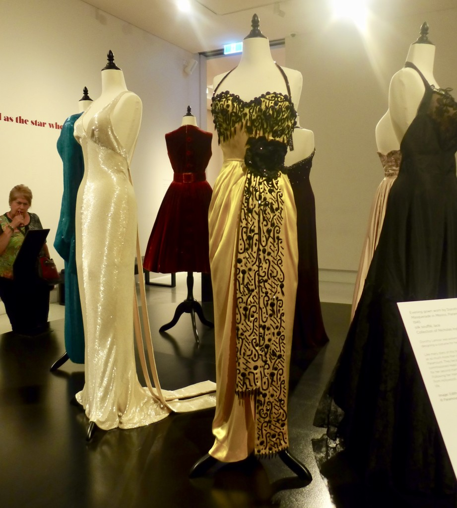 Edith Head costume display   Bendigo Art Gallery  Photograph:  GRACIE