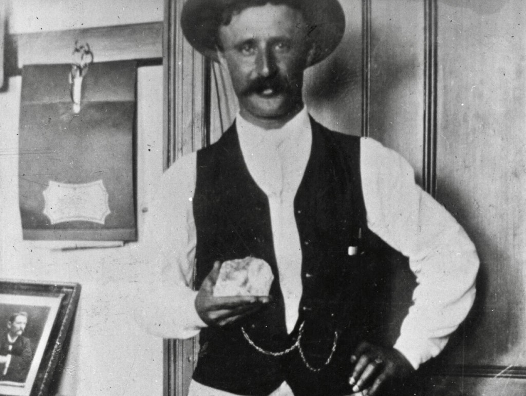 Frederick Wells pictured with his find.  Image:  Google